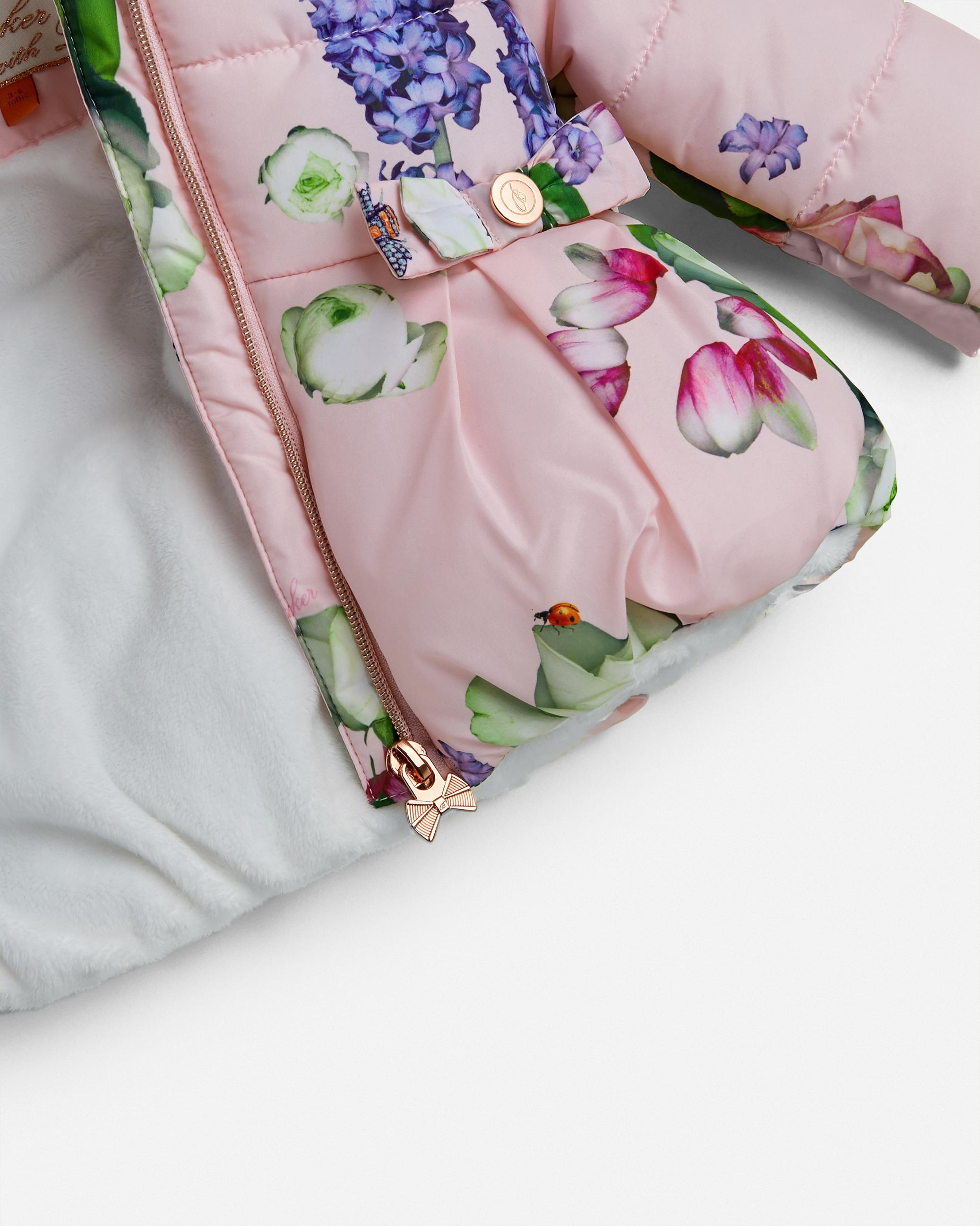 Kensington Floral coat Pink   Baby Fashion Outlet