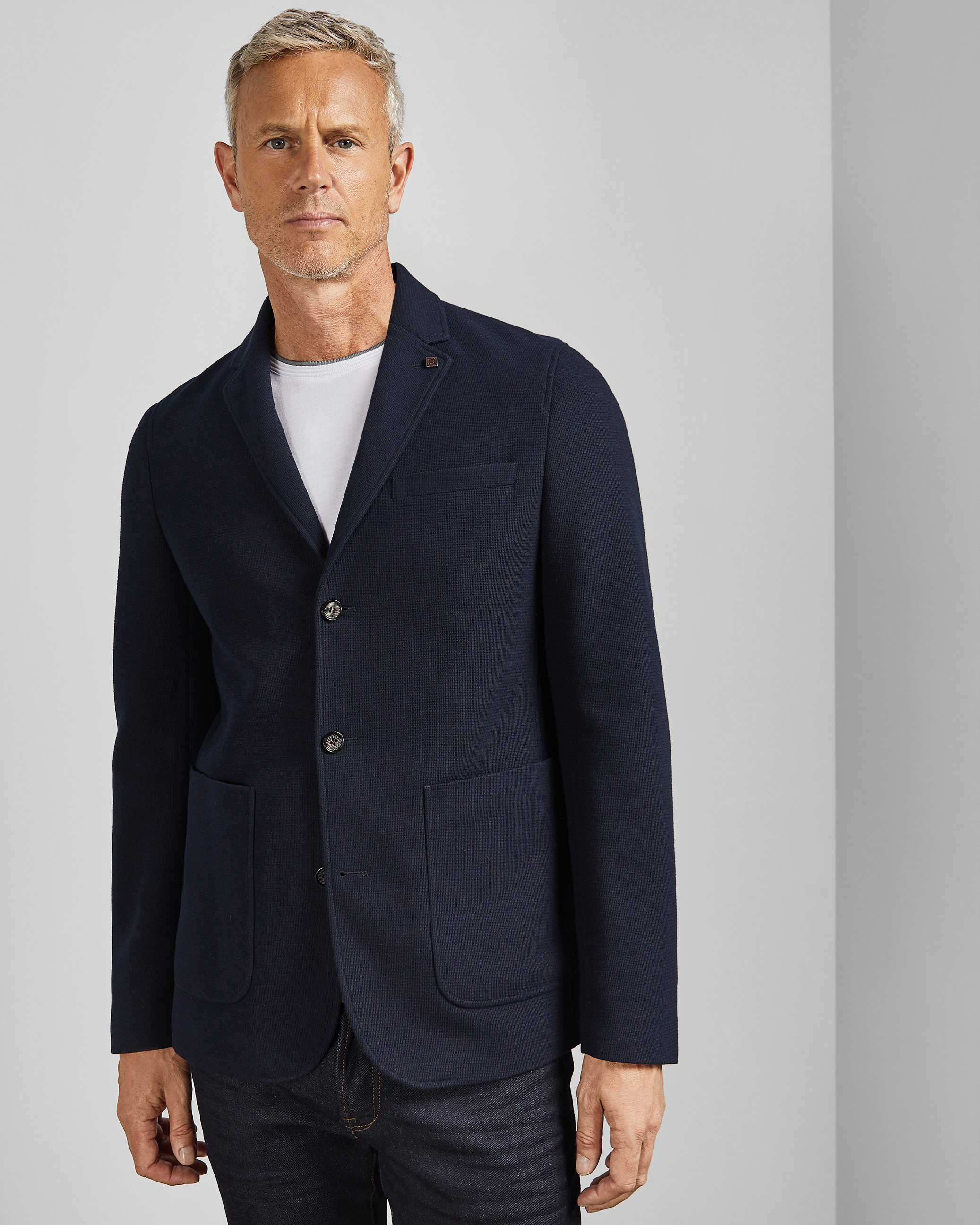 Veste en jersey avec doublure Tall for Ted Bleu marine