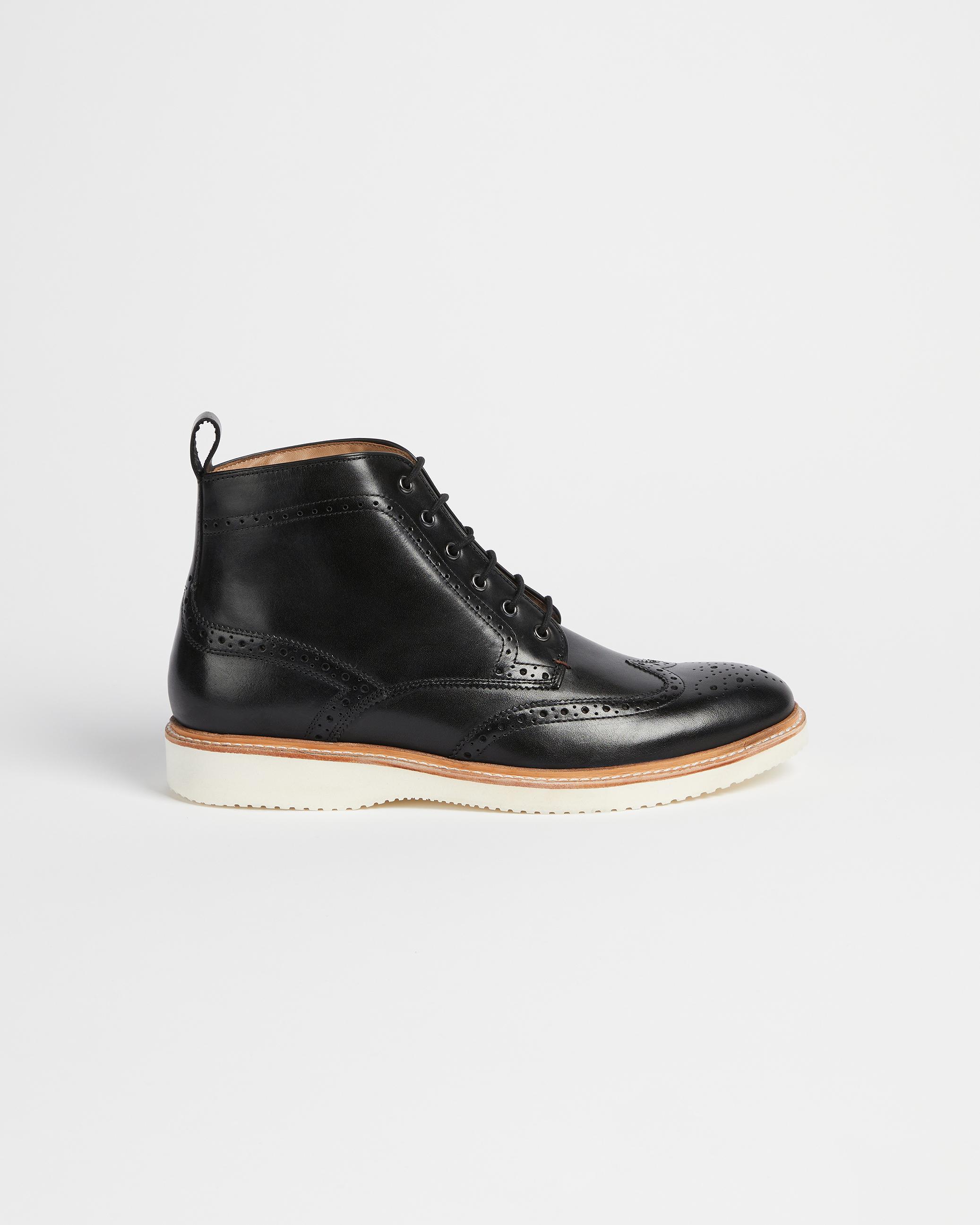 Ted Baker Men/'s Ollivur Leather Lace Up Formal Brogue Shoe Black