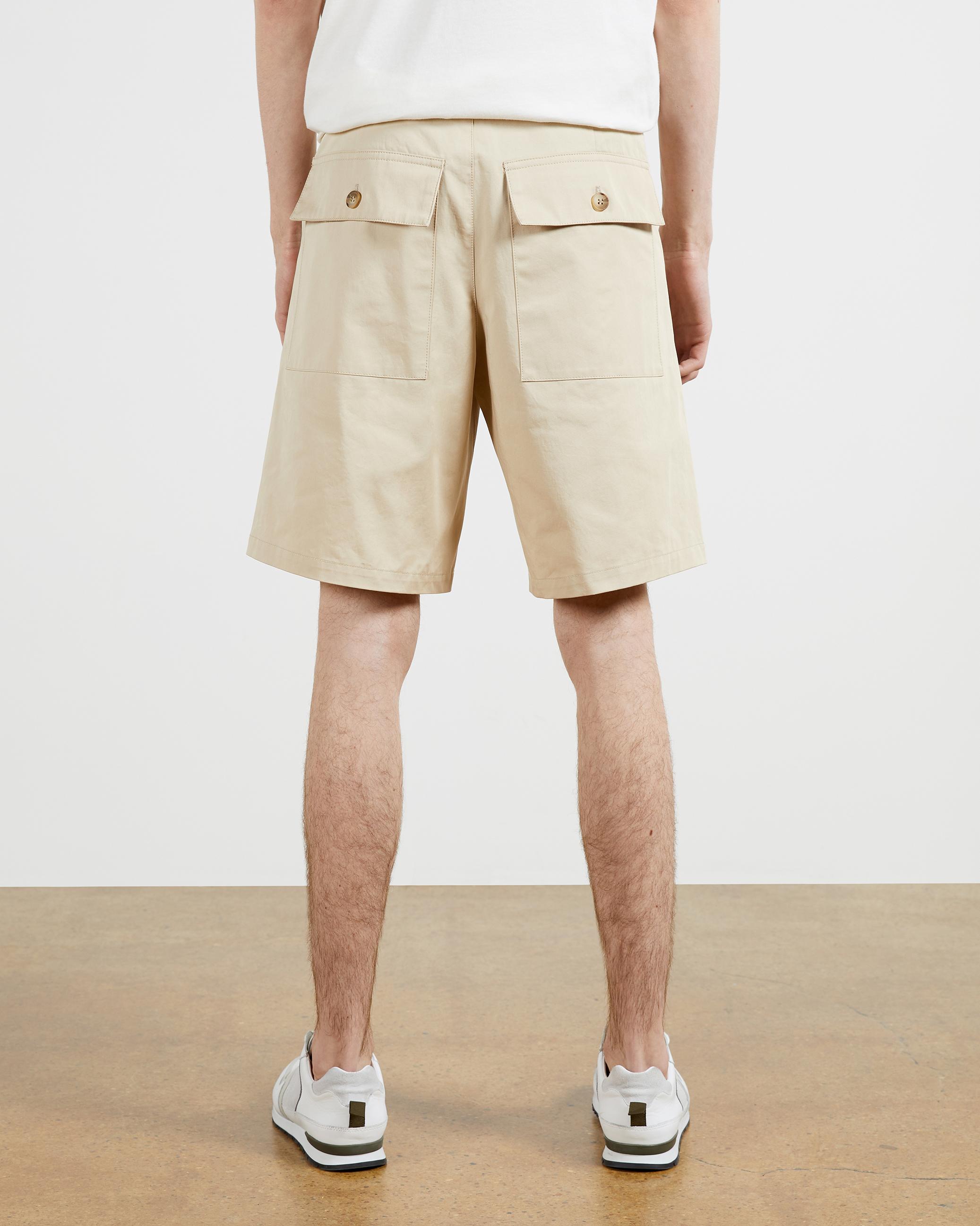 Bottines femme camel coton Utility Shorts Combinaison Avec Boutons