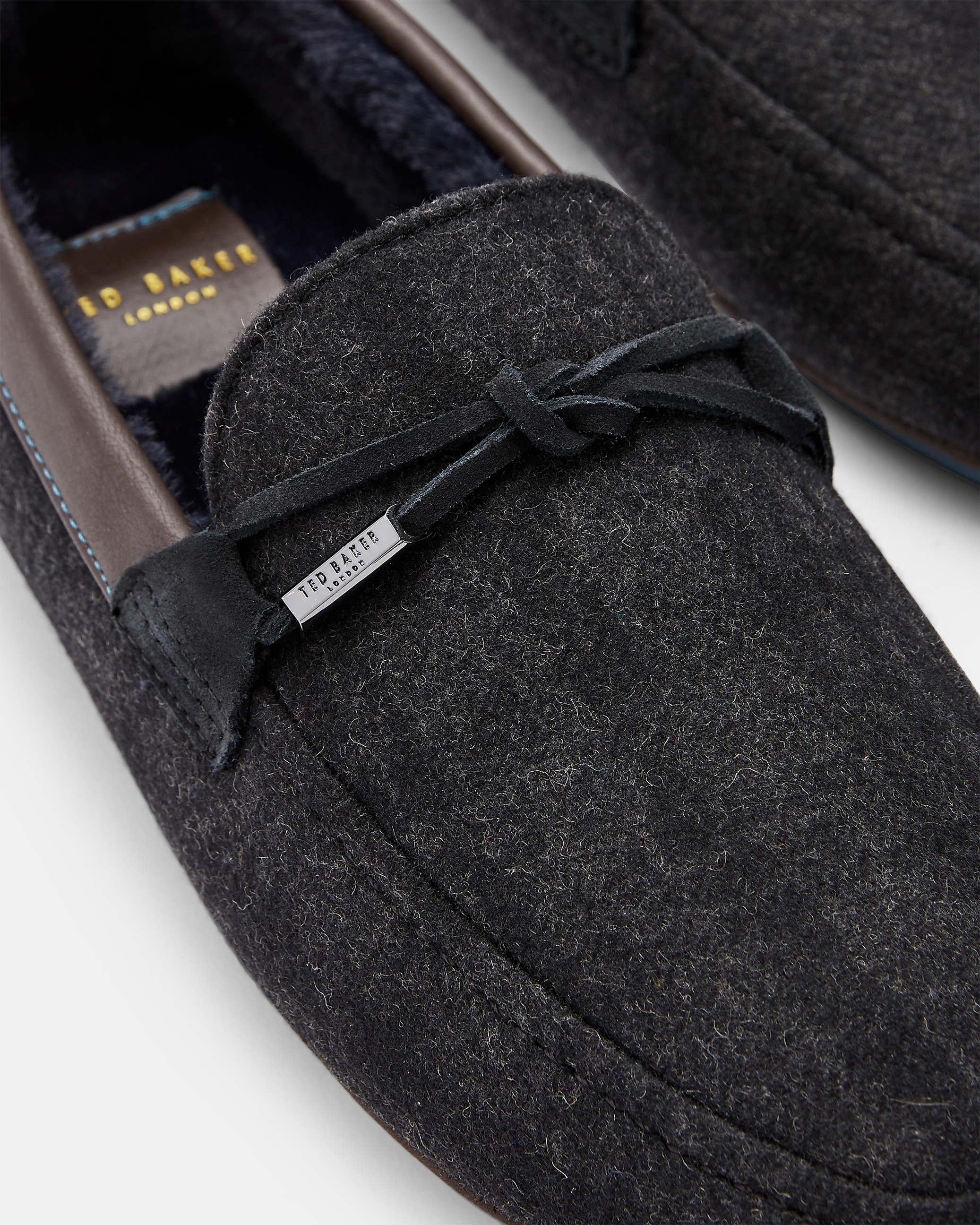 Ted Baker Check Slipper Homme Maten UK 8//10 Confortable Slip-on D Gris Pantoufles Box R £ 60