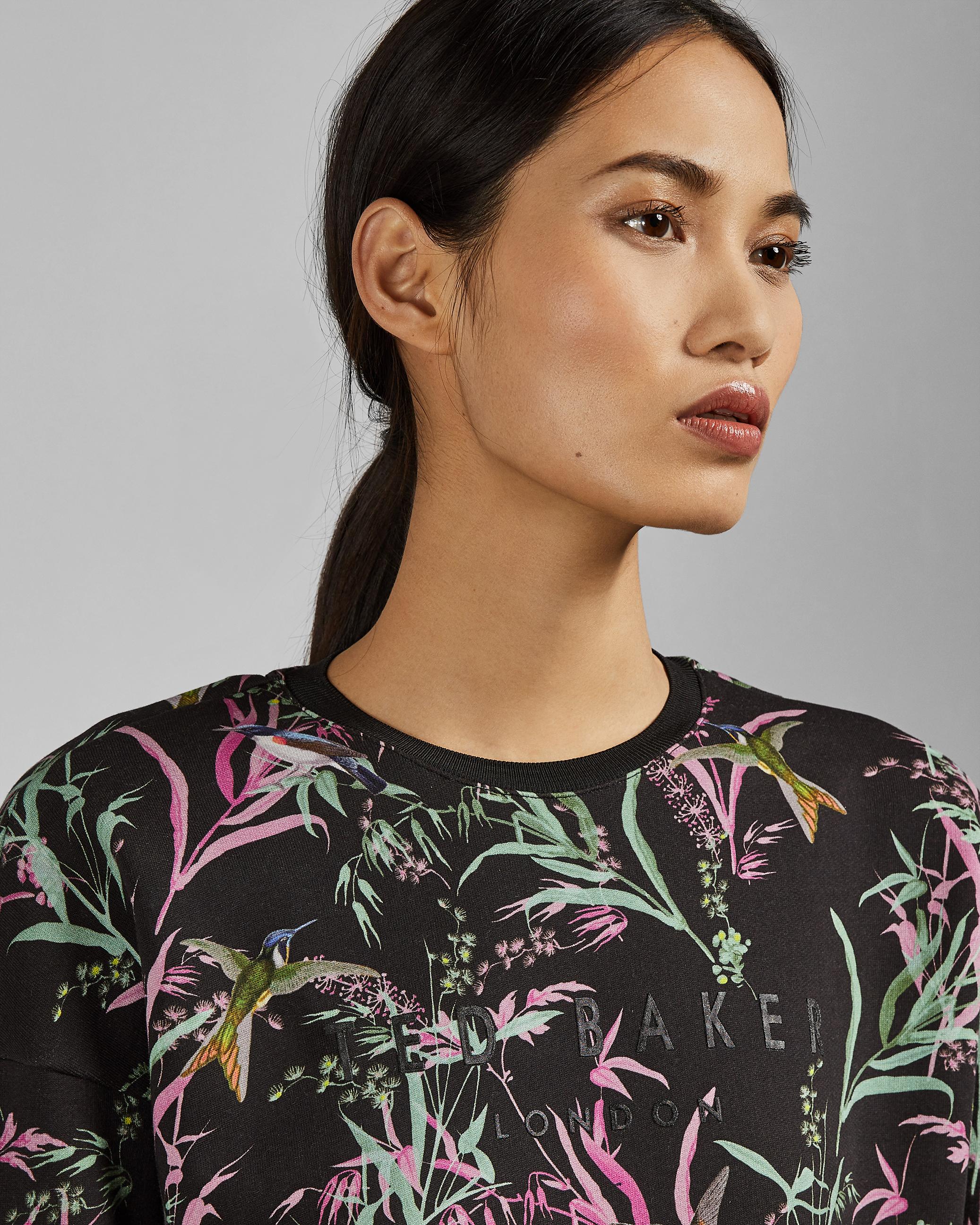 Sweat-shirt En Coton À Imprimé Oracle