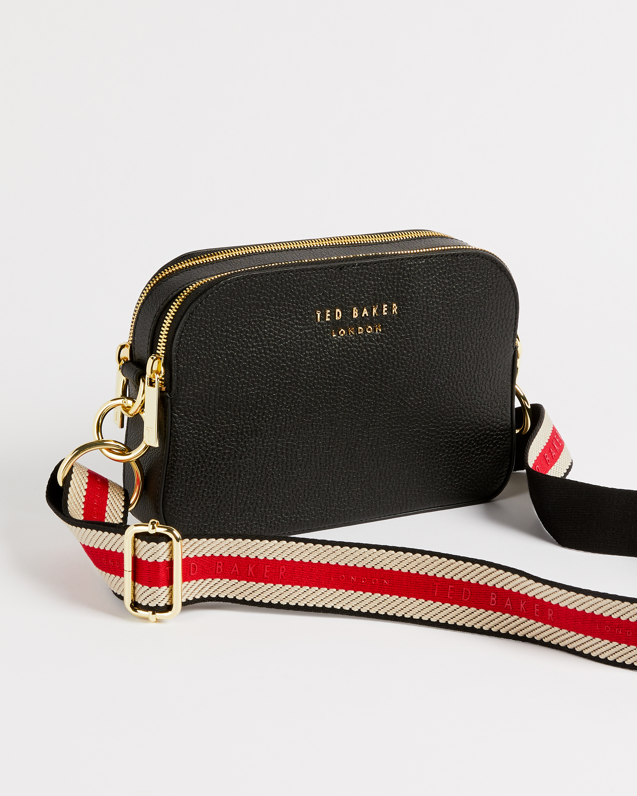 Leather Webbing Strap Camera Bag Black Cross Body Bags Ted Baker Row