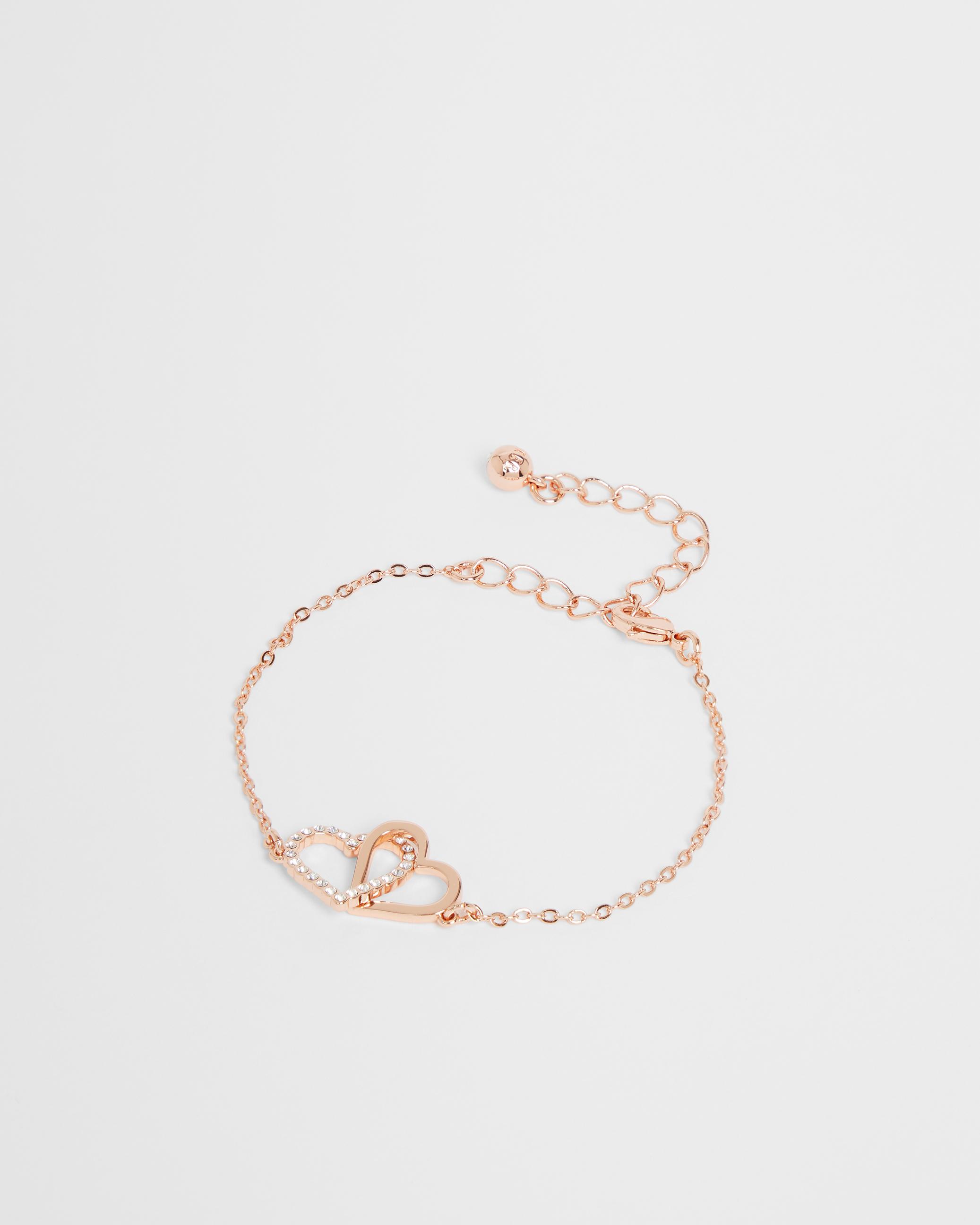 Linked hearts bracelet