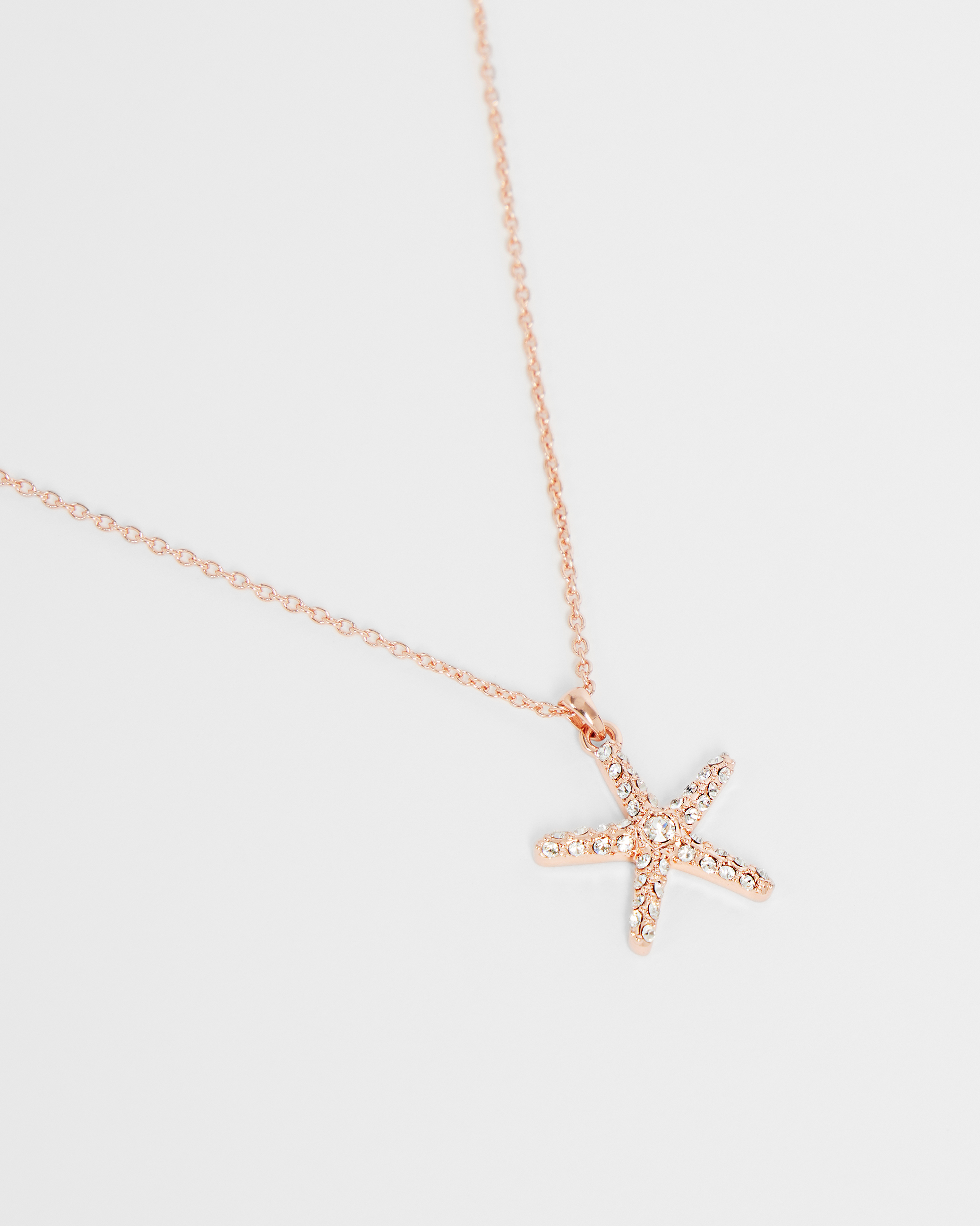 necklace Gold plated brass 48x35  2261 Starfish pendant