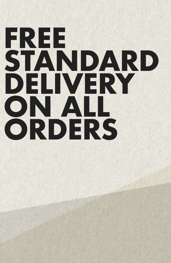 free standard delivery on all orders