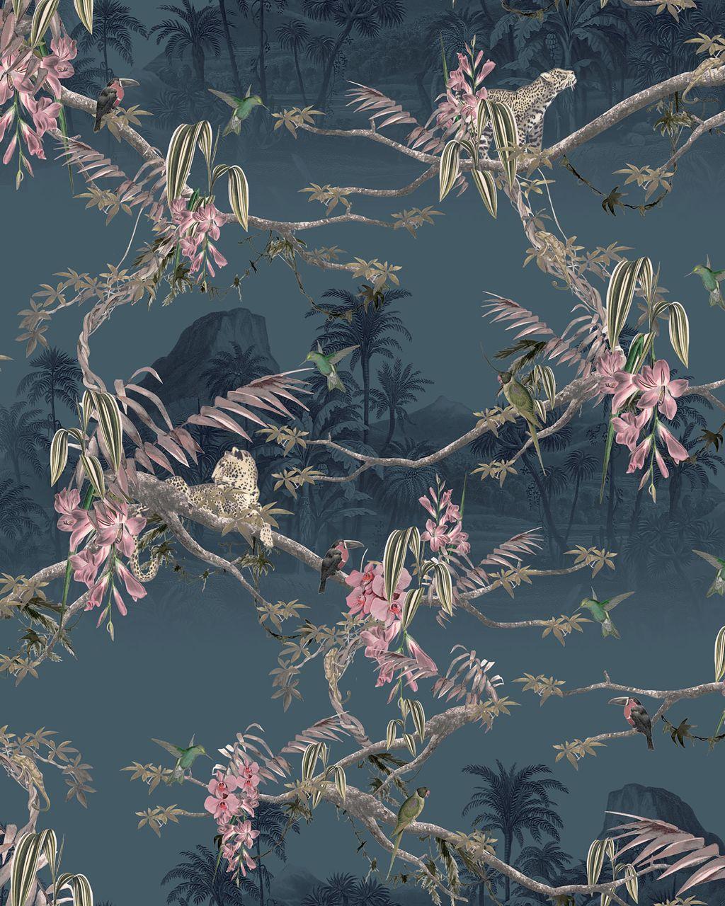 Papier Peint Hibiscus