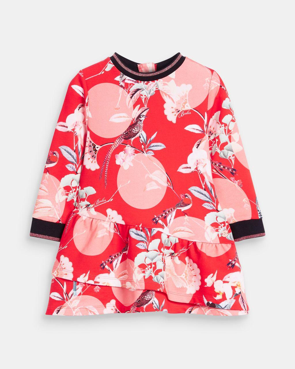 Botanical Print Smock Dress
