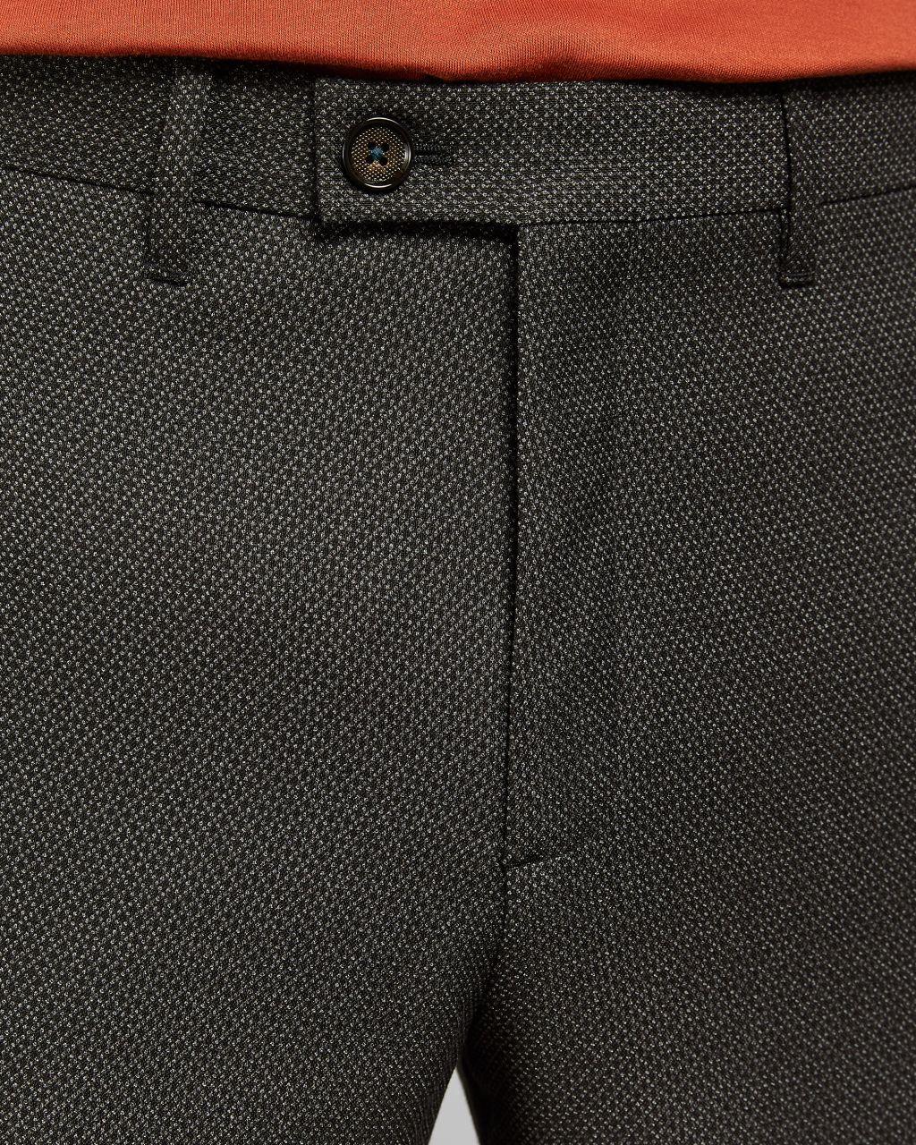 Pantalon Texturé Coupe Slim