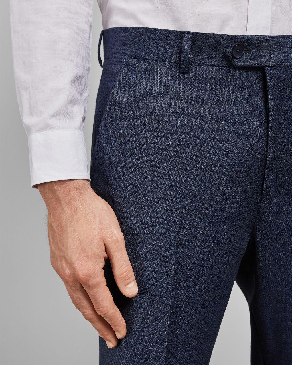 Pantalon En Laine À Imprimé Discret