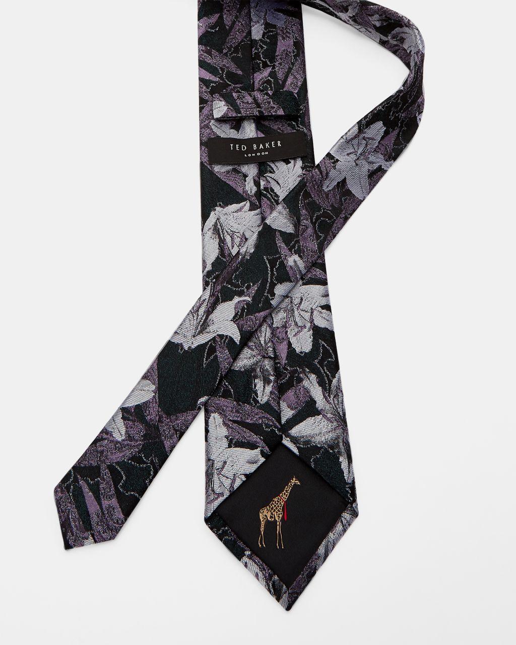 Cravate En Soie À Fleurs