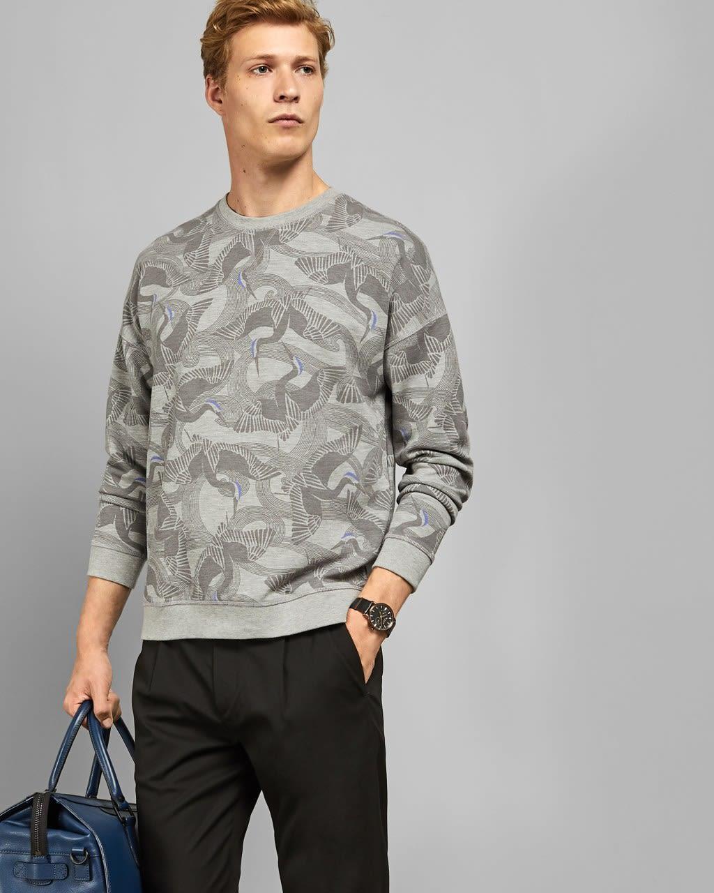 Bird Printed Sweatshirt