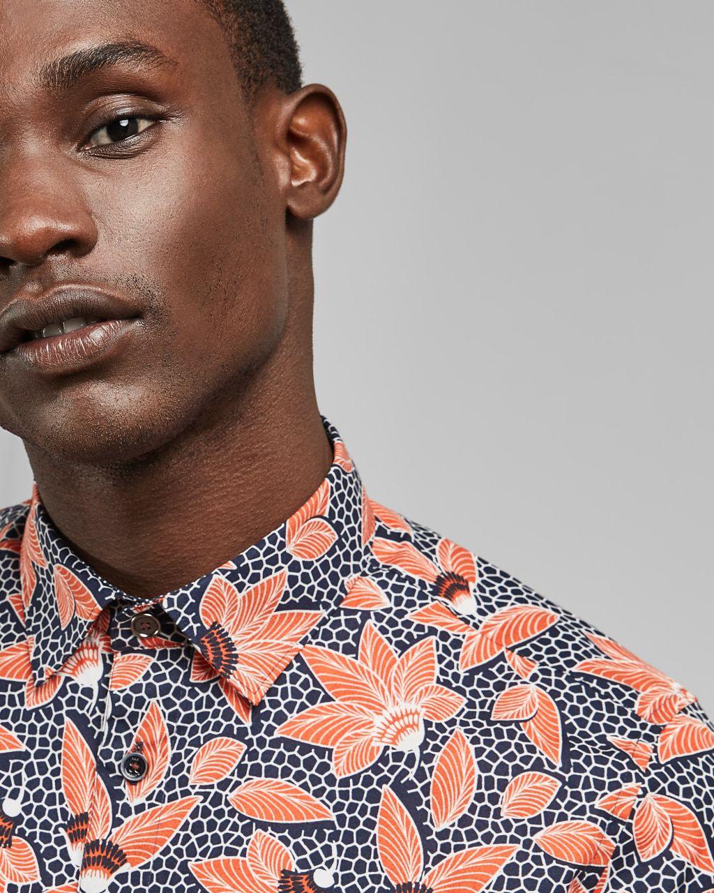 Bold Floral Cotton Shirt