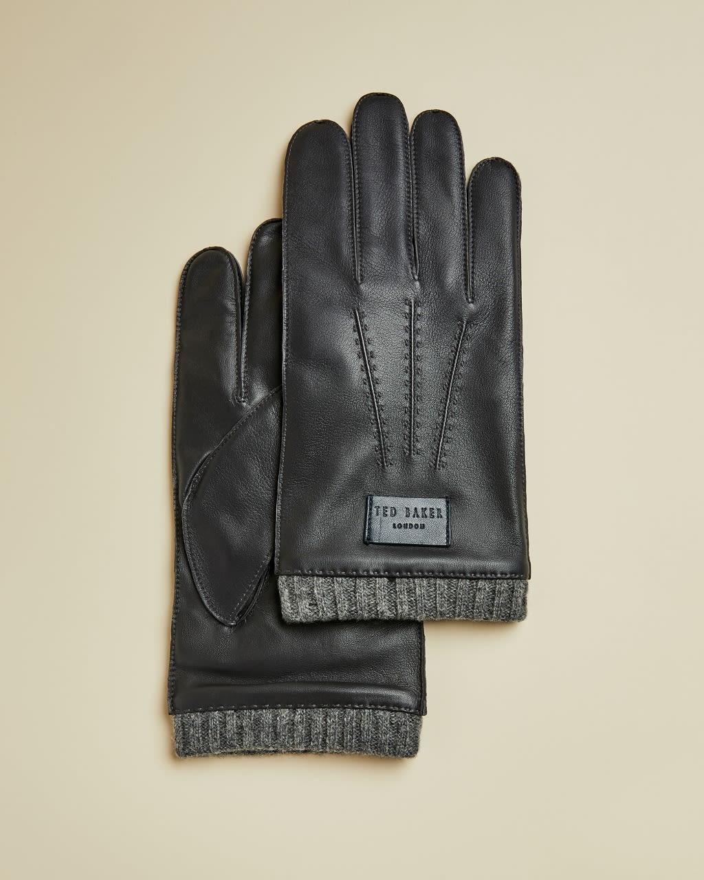 TED BAKER Handschuhe Aus Leder Mit Rippstrickbündchen | TED BAKER SALE