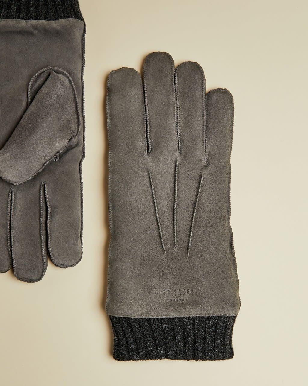 TED BAKER Handschuhe Aus Veloursleder Mit Bündchen | TED BAKER SALE