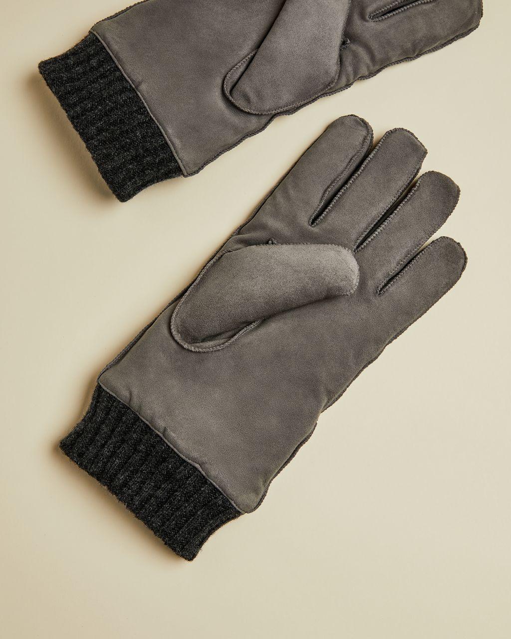 Suede Cuffed Glove