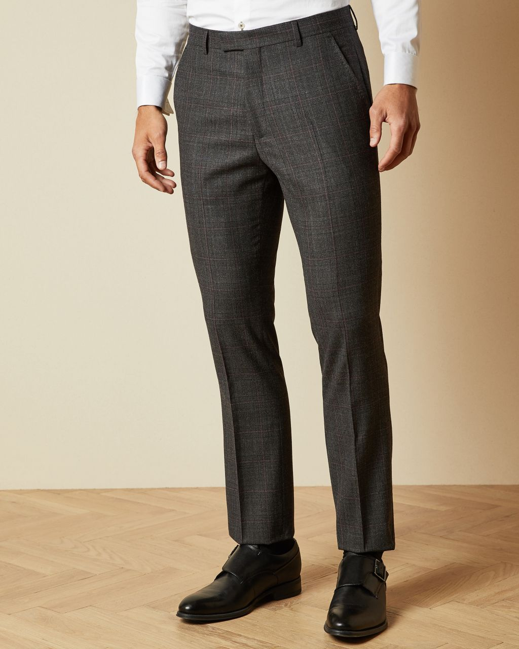 TED BAKER Sterling Wool Checked Trousers | TED BAKER SALE