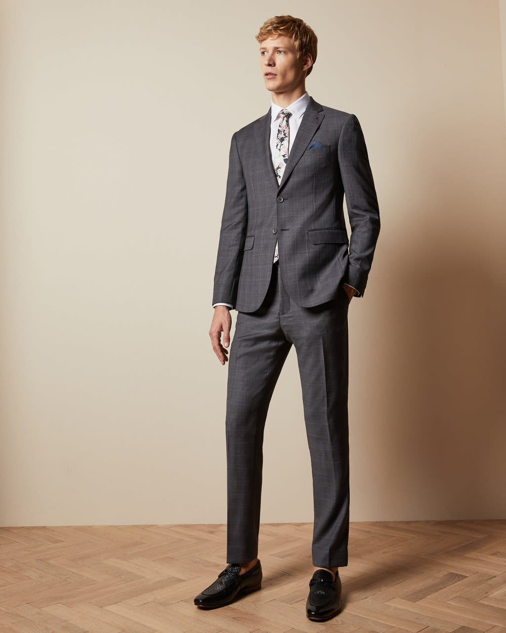 Checked Two-piece Wool Endurance Suit