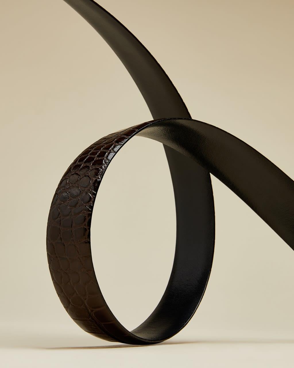 Reversible Exotic Leather Belt