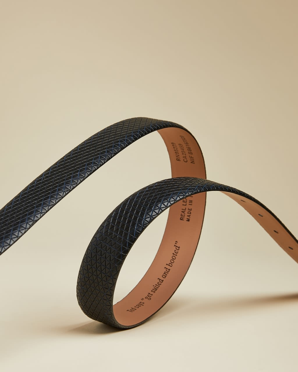 Textured Geo Leather Belt
