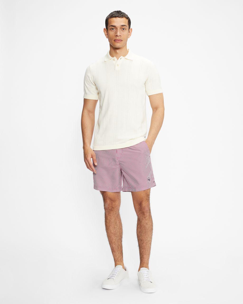 Formal Stripe Swim Shorts