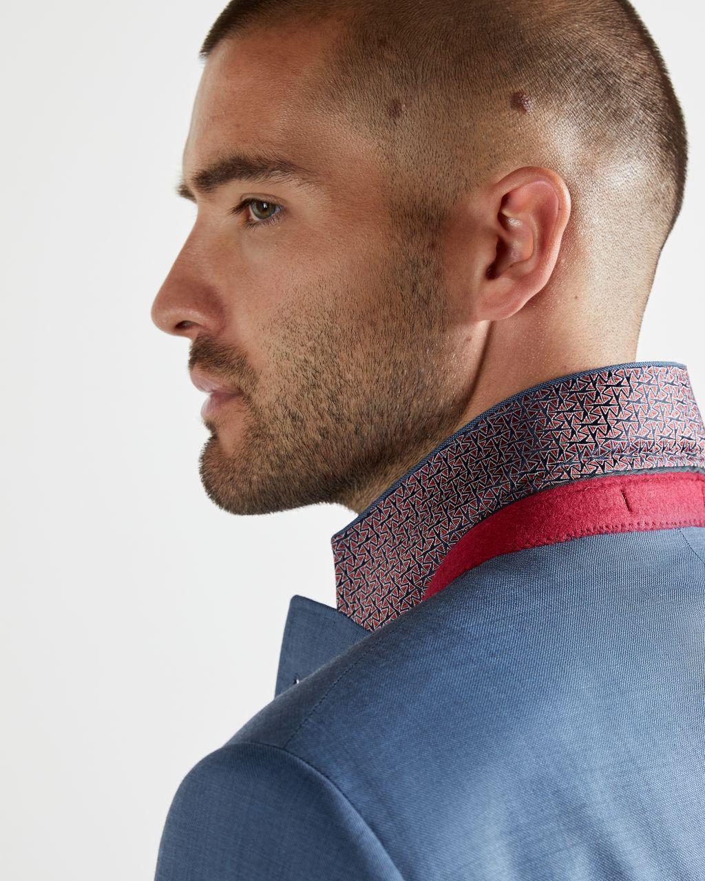 Debonair Sharkskin Wool Suit Jacket