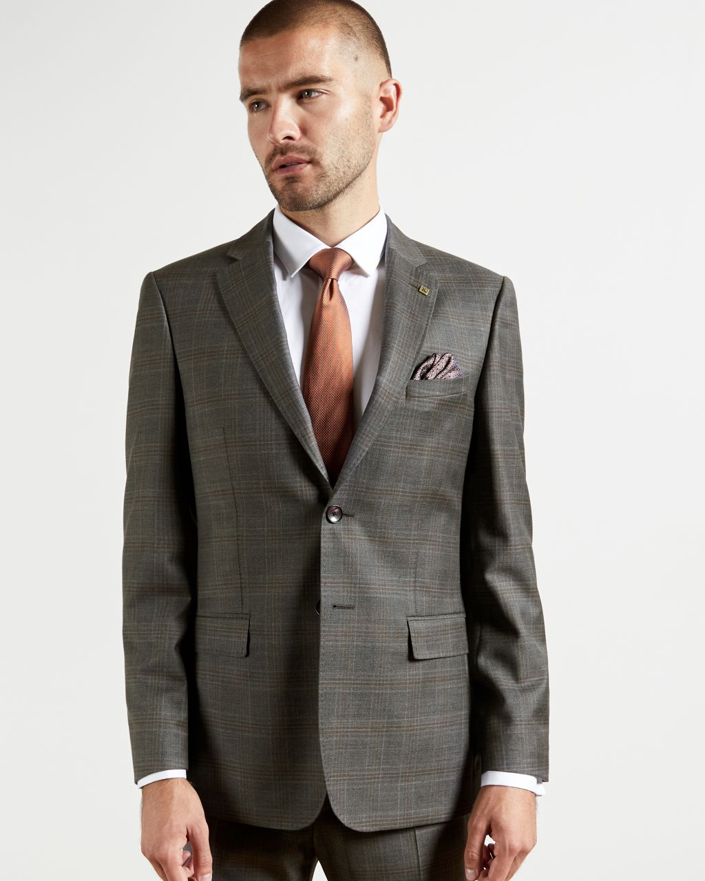 Debonair Check Wool Suit Jacket
