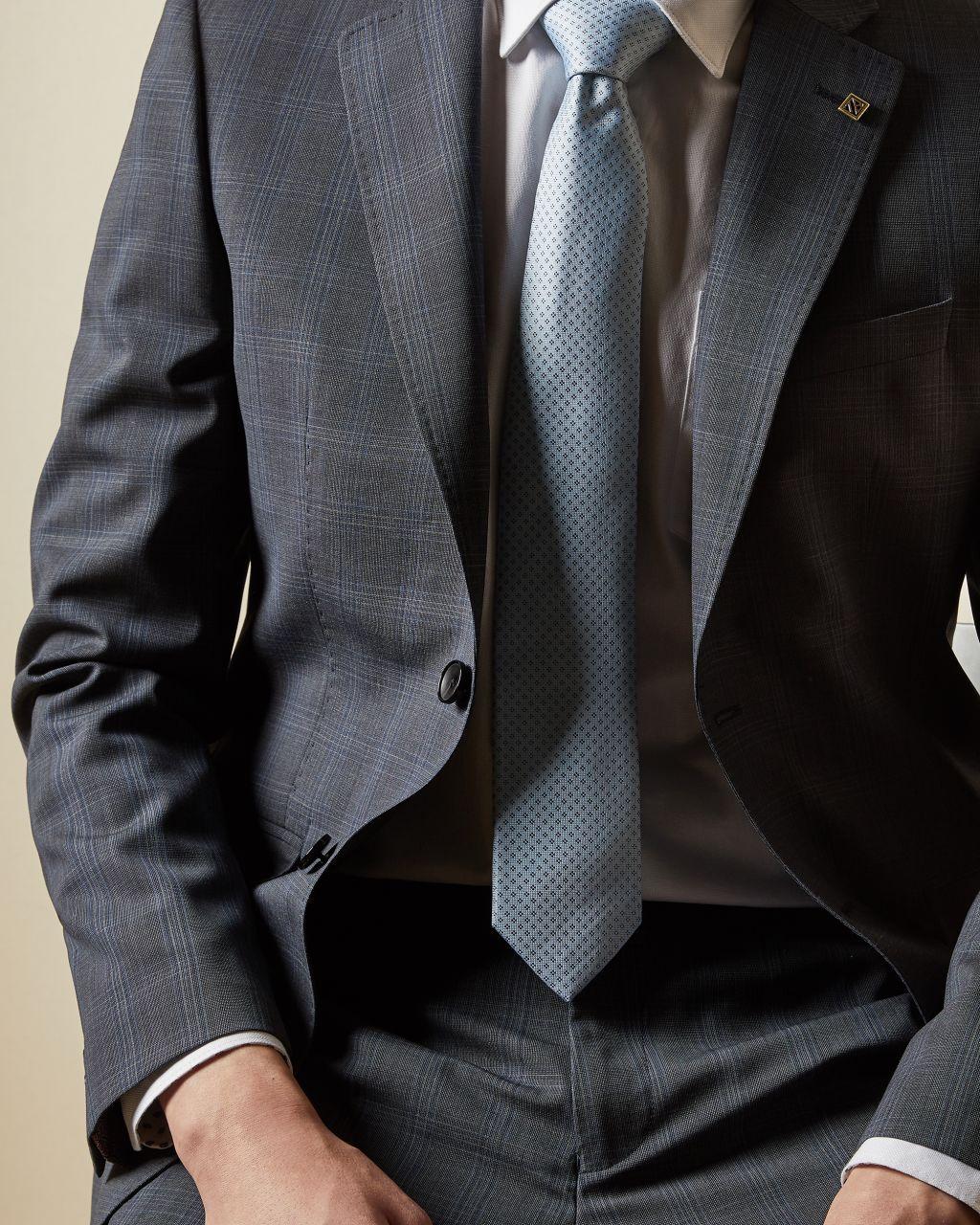 Debonair Skinny Wool Checked Jacket