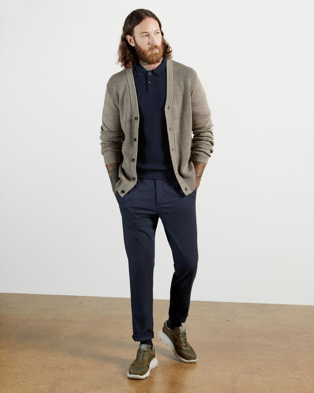 TED BAKER Longsleeve Knitted Polo | TED BAKER SALE