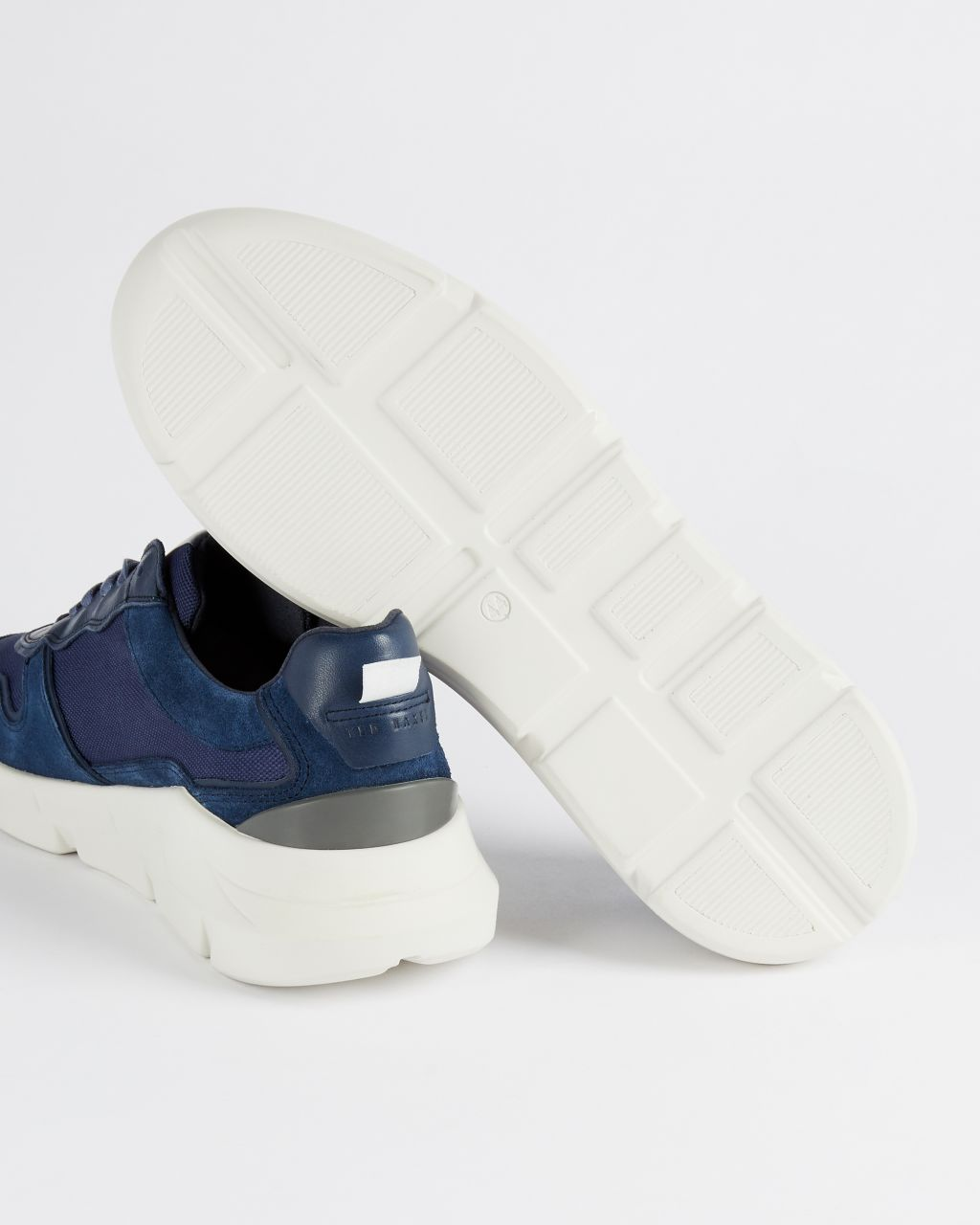 Chunky Panelled Leather Sneakers