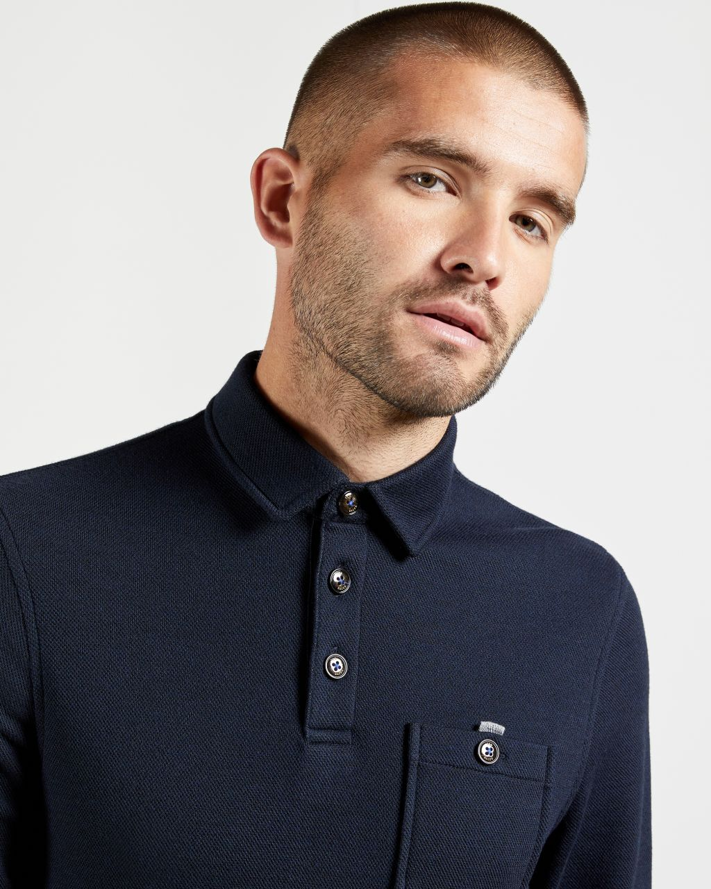 TED BAKER Thick Textured Polo Shirt   TED BAKER SALE