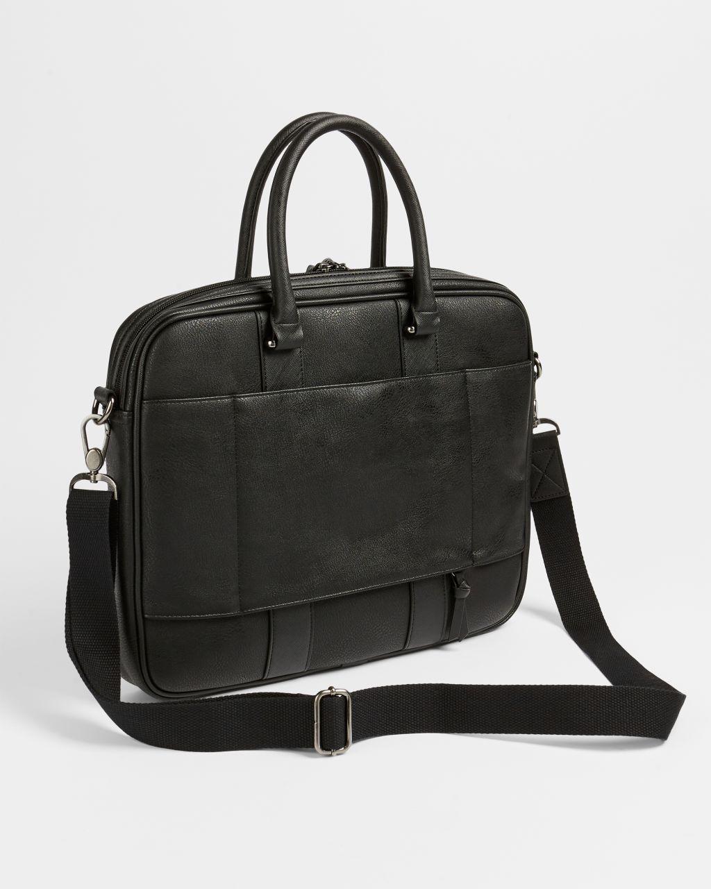 Stripe-trimmed Briefcase