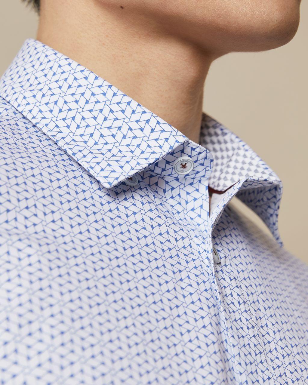 Chemise En Coton Avec Motif Géométrique
