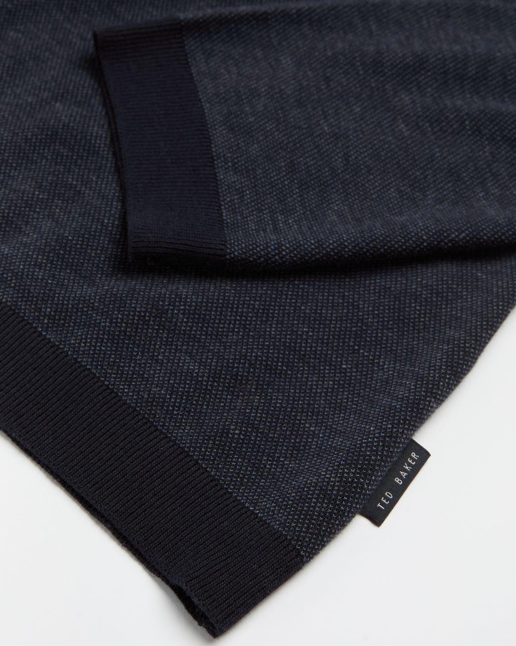 Long Sleeve Ribstart Polo Top