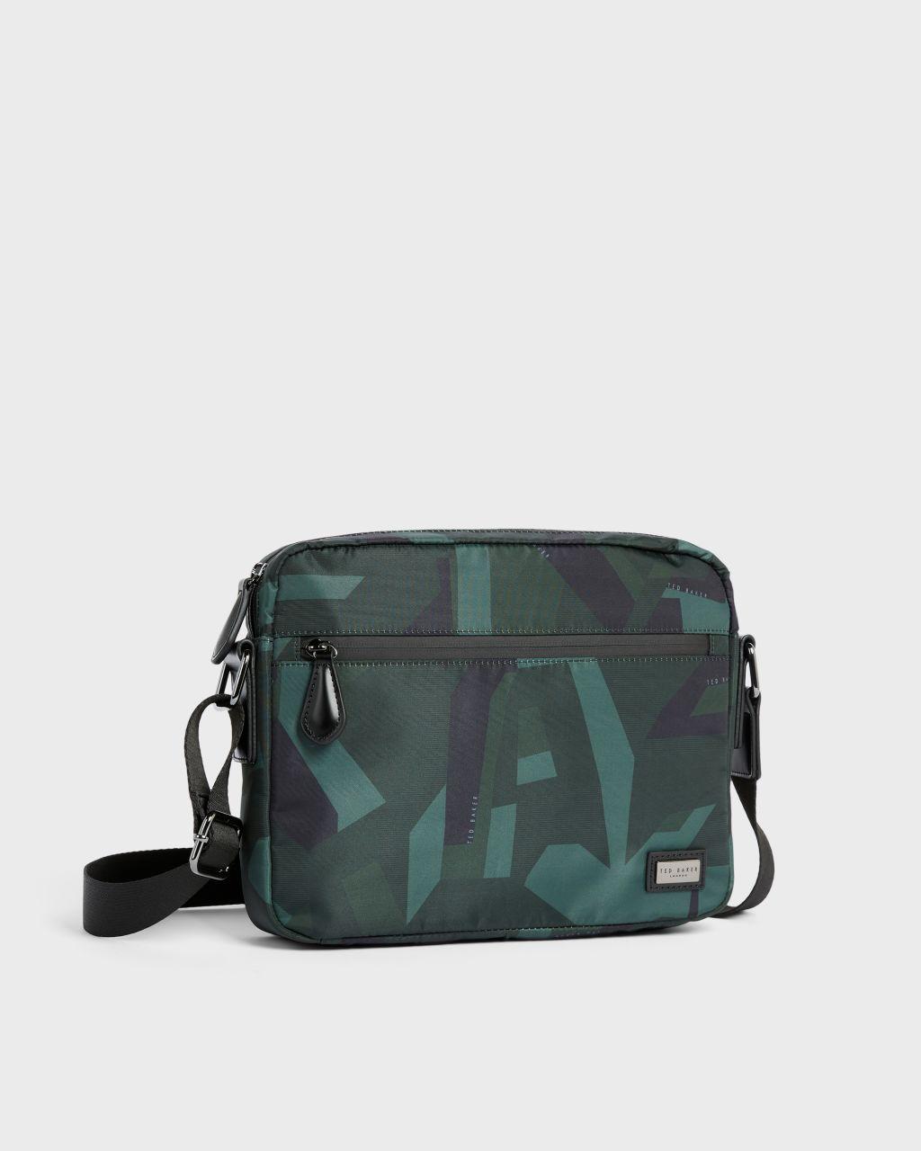 TED BAKER Tasche | TED BAKER Camo Print Paper Touch Nylon Messenger Bag