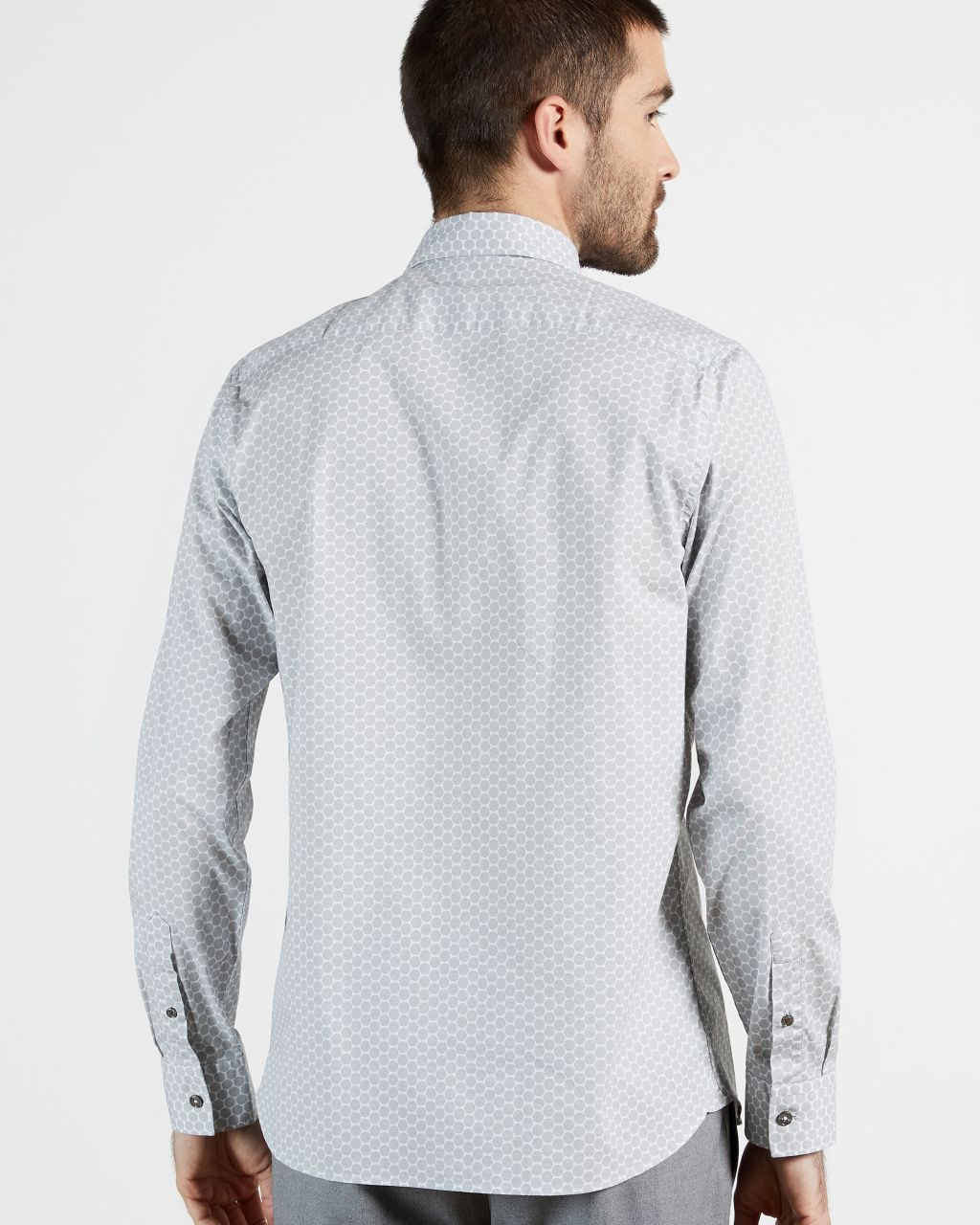 Spot Geometric Print Shirt