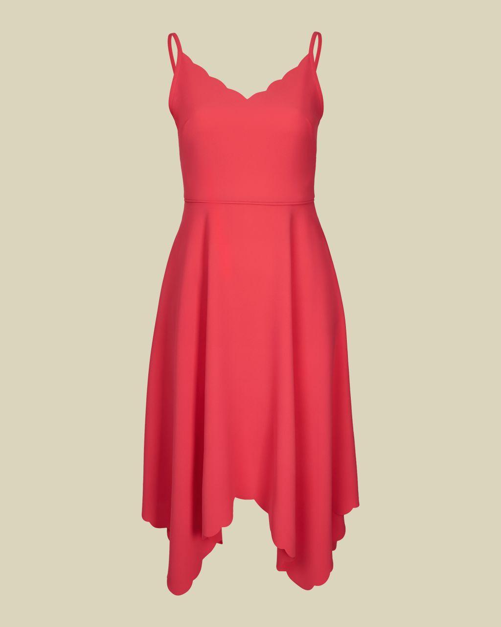 Asymmetric Hem Dress
