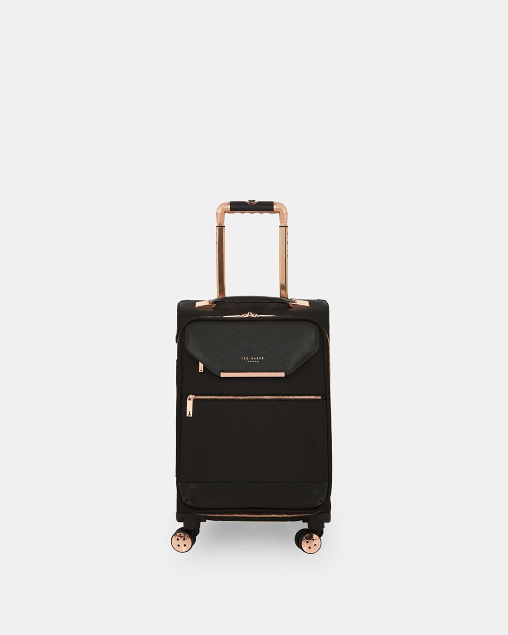 Metallic Trim Small Suitcase