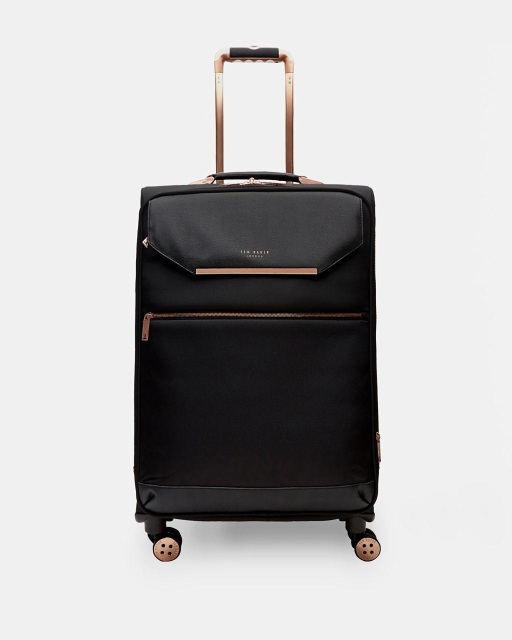 Metallic Trim Medium Suitcase