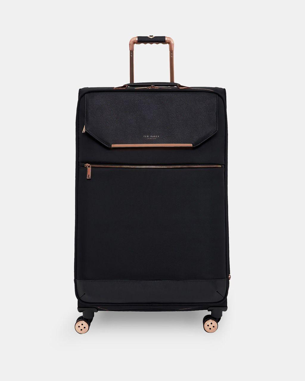 Metallic Trim Large Suitcase