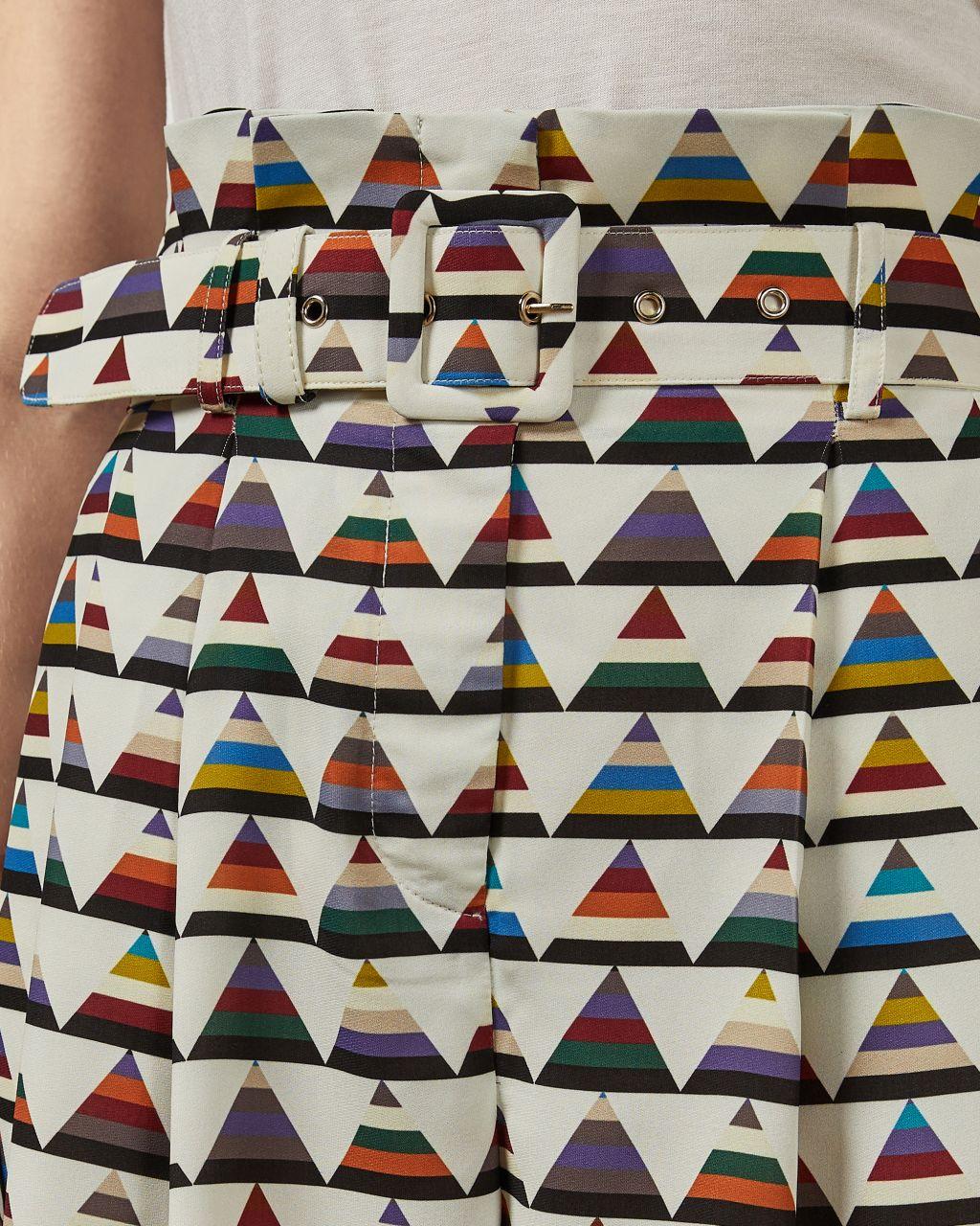 Pantalon À Imprimé Triangles