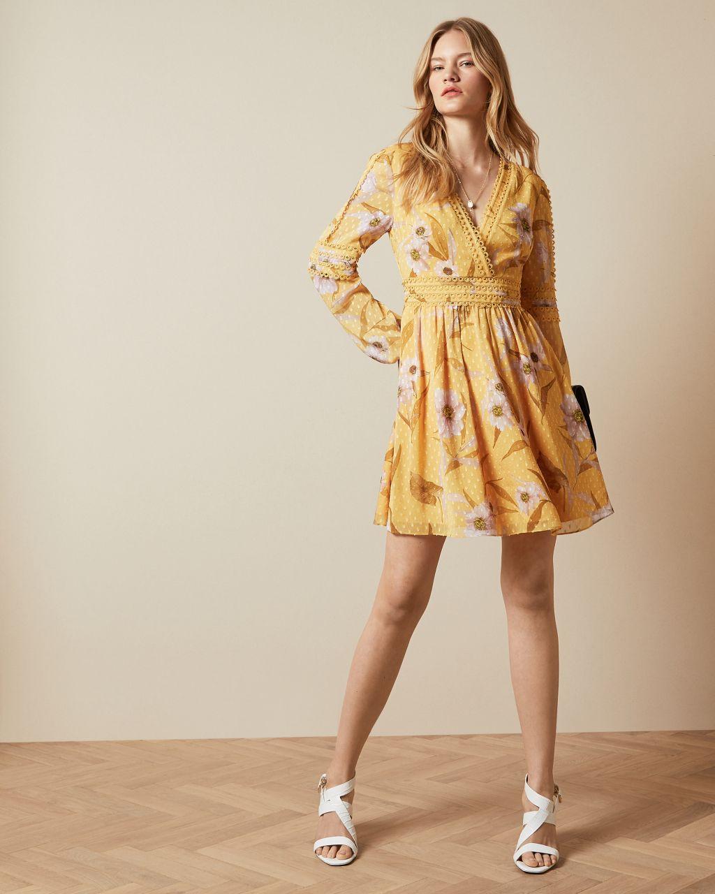 Cabana Long Sleeve Mini Dress