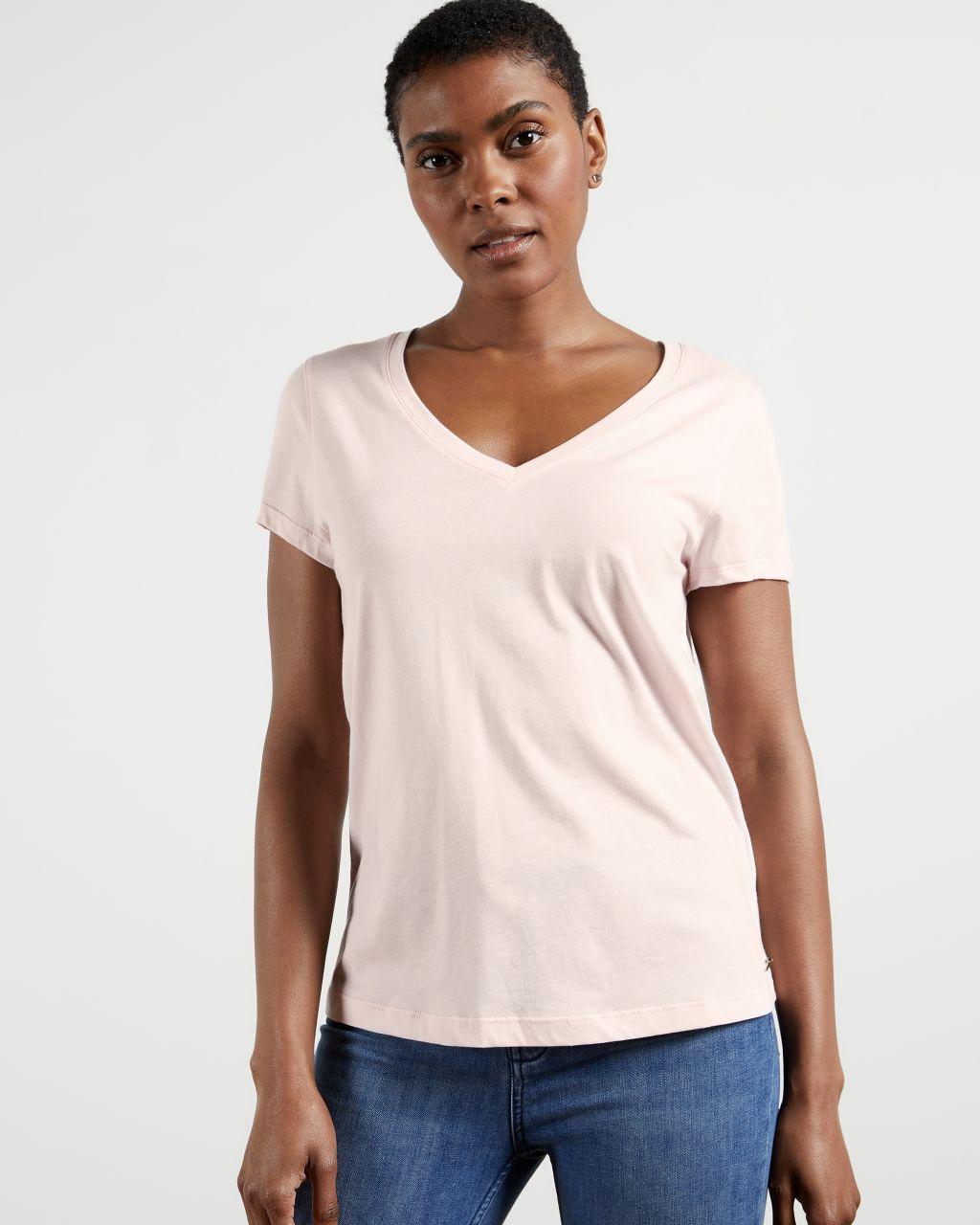 TED BAKER Lockeres T-shirt Mit V-ausschnitt   TED BAKER SALE