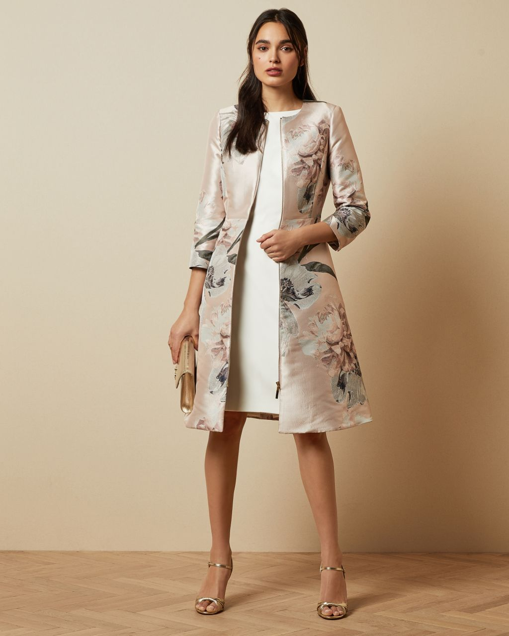 TED BAKER Mantel In A-linie Mit Woodland-print | TED BAKER SALE