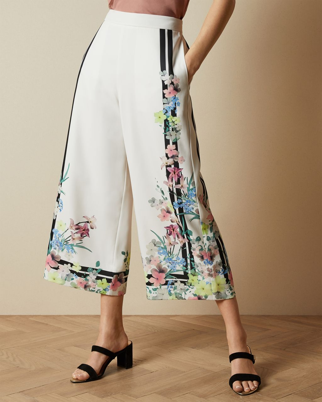 TED BAKER Culottes Mit Pergola-print | TED BAKER SALE