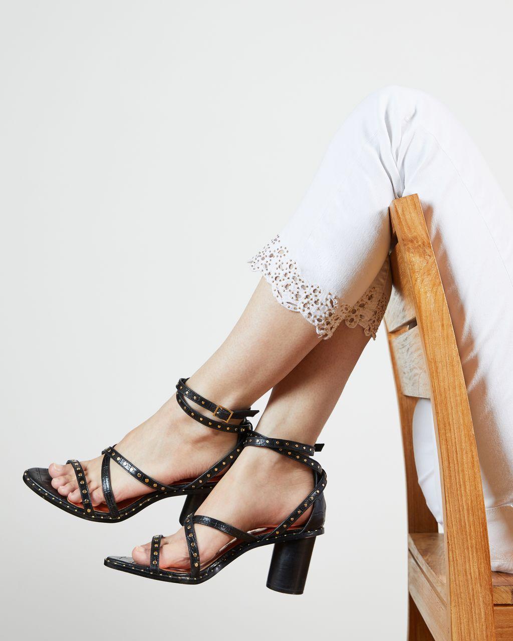 Applique Hem Detail Skinny Jean