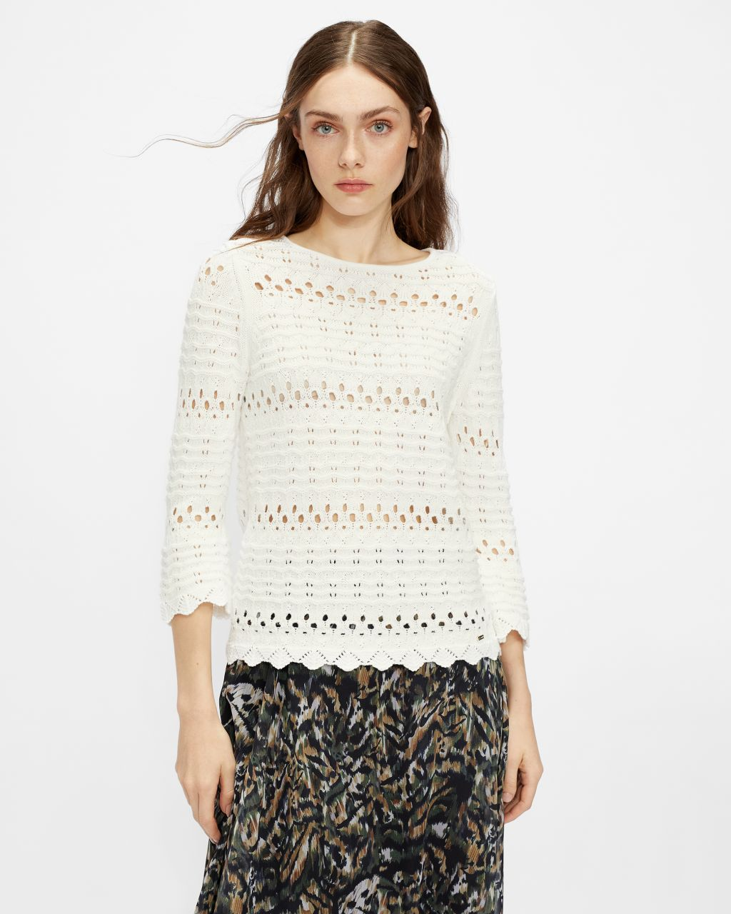 TED BAKER Crochet Loose Fit Sweater   TED BAKER SALE