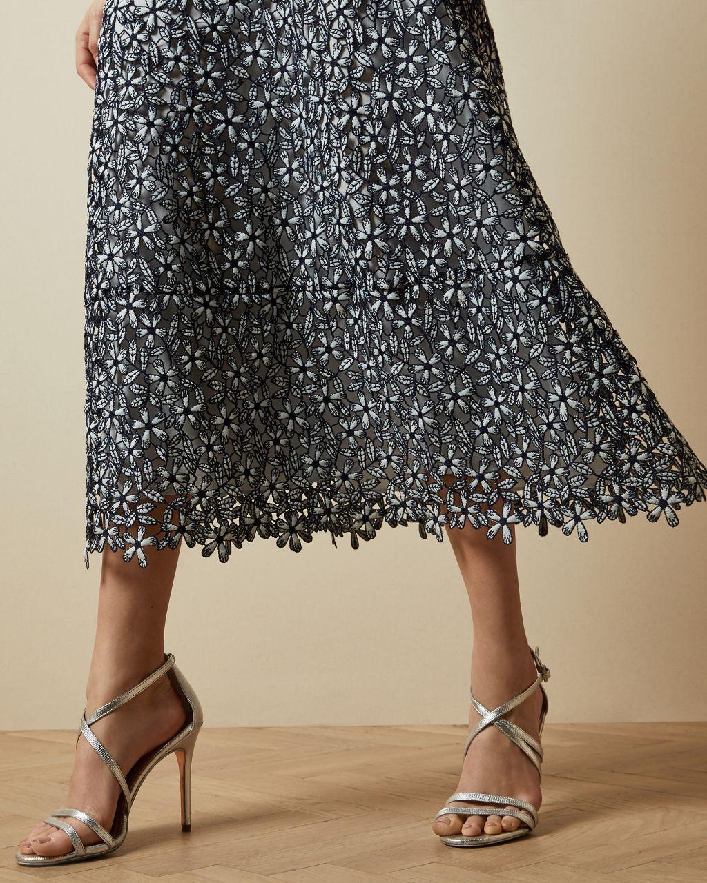 Floral Lace Evening Dress