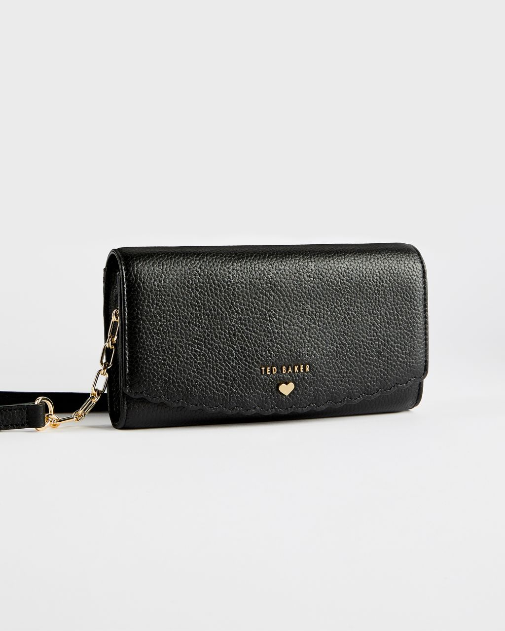 TED BAKER Scallop Detail Leather Clutch Purse | TED BAKER SALE