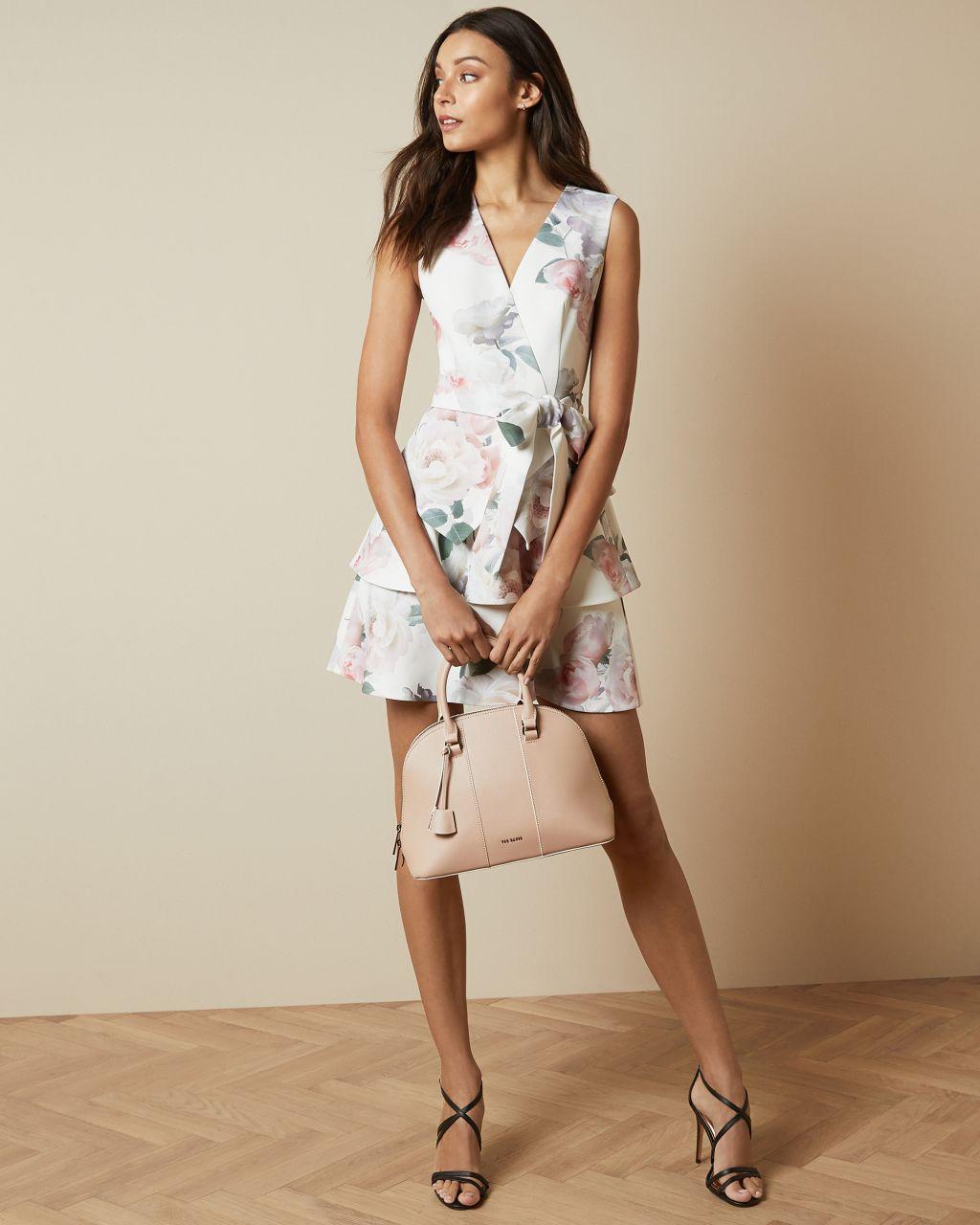 TED BAKER Kleid Mit Gestufter Rockpartie Und Bouquet-print   TED BAKER SALE